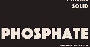Image result for phosphate font