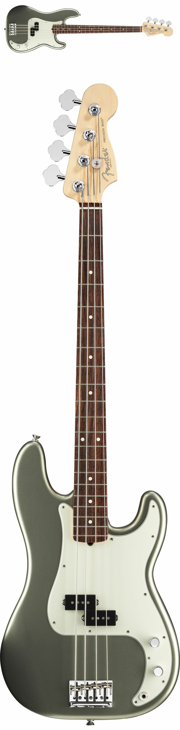 Fender American Standard Precision 4 String Bass Guitar 2012 Jade Pearl Rosewood
