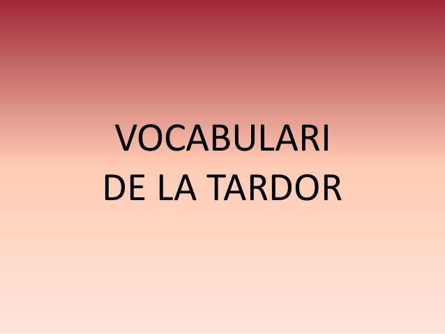 VOCABULARI DE LA TARDOR                                                                                                                                                                                 Más
