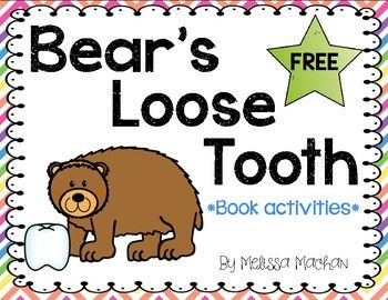 This FREEBIE is a great complement to your Dental Health unit.  You will find some quick, fun activities to go along with the picture book: Bear's Loose Tooth by Karma Wilson.  Students will be sequencing, finding rhyming words, responding to reading, and making personal connections.