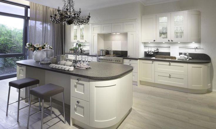White Shaker Style Kitchen - Black RoK Kitchens Sussex in ...