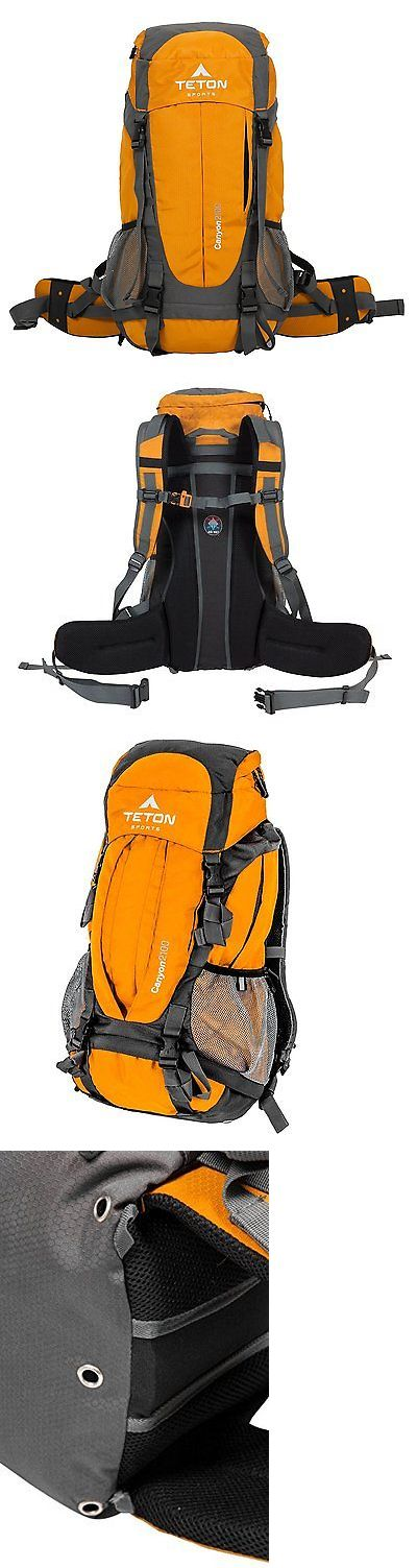 Other Camping Hiking Backpacks 36109: Teton Sports Canyon 2100 Internal Frame Backpack Orange 1003 -> BUY IT NOW ONLY: $69.98 on eBay!