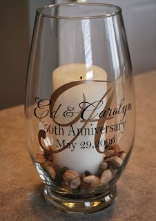 Cher's Signs by Design--These would be a great gift for the couple . . . or as part of centerpieces for the tables.  Change accent color on LARGE LETTER and you can use whatever you want for what surrounds the candle appropriate to occasion and time of year.  Weddings?  Birthdays? Anniversaries?  Baptisms?  etc