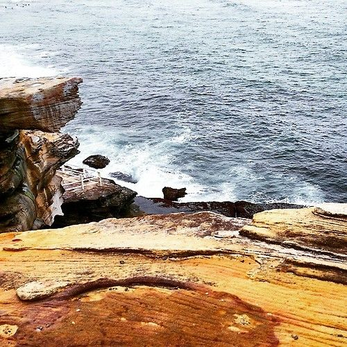 #bondibeach #bonditobronte #bonditocoogee #beach #cliff #love #view #rocks