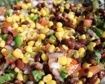 Delicious summer corn and bean salad!