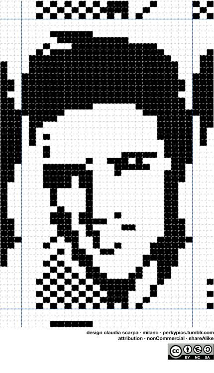 elvis the knig knitting chart