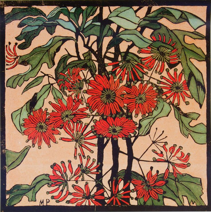 Margaret PRESTON - Wheelflower - Decorative Print of Australian Artist