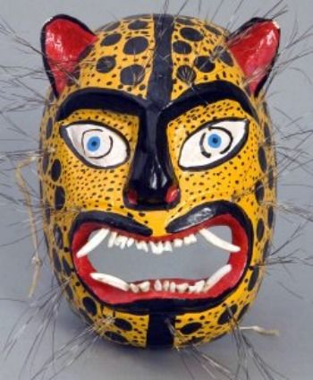 more recent jaguar mask, Mexico
