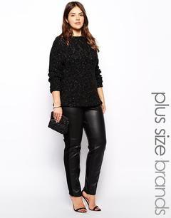 Leather Look Leggings Plus Size