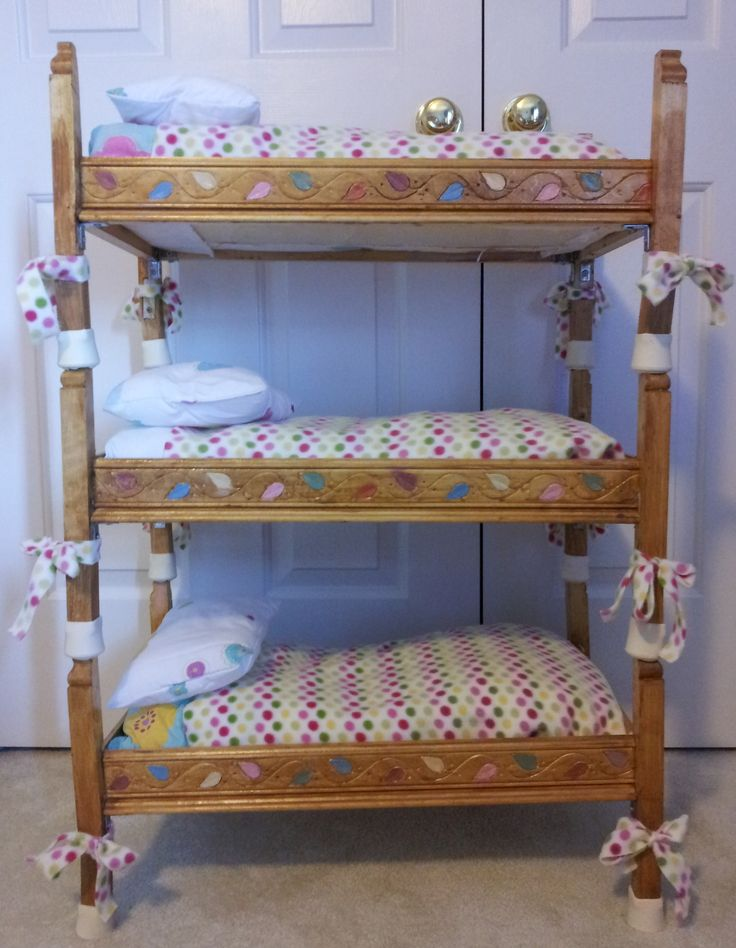 Doll Triple Bunkbed I Built For My Daughter S American