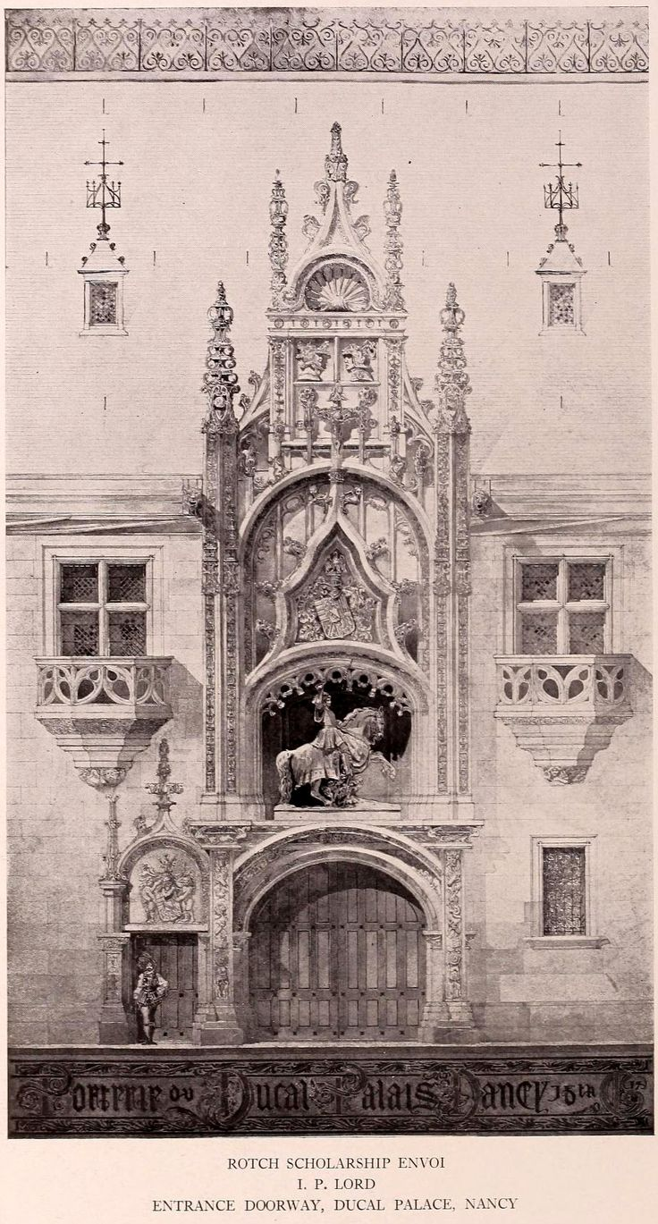 The Entrance doorway of the Ducal Palace, Nancy