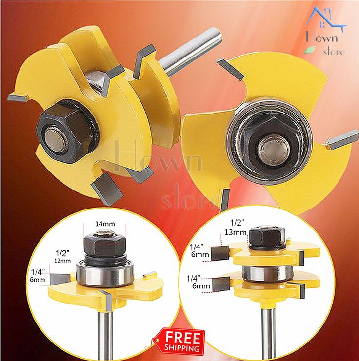 Hown Store: Tongue Groove Router Bit Set 3/4-Inch Stock 1/4-In...