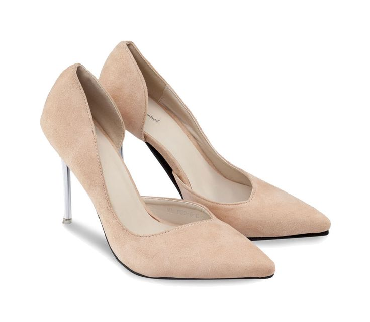 Pointed Heels with Metal Heel by Something Borrowed. Beige heels with metal heel, synthetic upper, pointed toe, insole synthetic, a cool heel for any occasion, you can pair this beige heel with work pants or skirt, for formal look. http://www.zocko.com/z/JJGeT