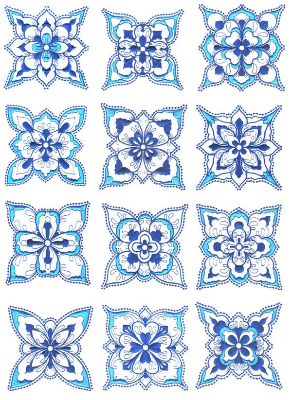 Turkish embroidery patterns.