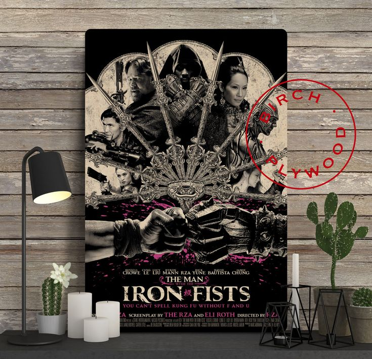 The Man with the Iron Fists - Poster on Wood, Rza, Russell Crowe, Cung Le, Lucy Liu, Print on Wood, Christmas Gift, Gift for Her, Wall Decor by InHousePrinting on Etsy