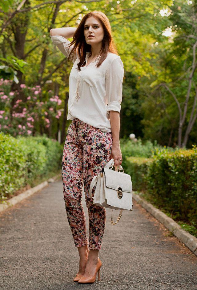 @roressclothes clothing ideas #women fashion Best Combination Ideas about Floral Pants: Gorgeous Lady