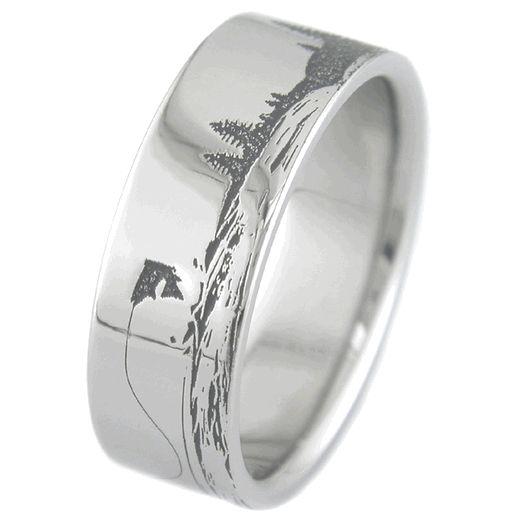 The whole ring! Fishing Scene Ring, Fishing Rings - Titanium-Buzz.com