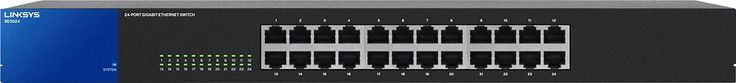 Linksys - 24-Port Gigabit Ethernet Switch - Black