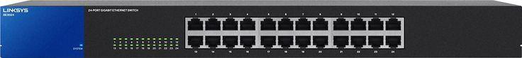 Linksys - 24-Port Gigabit Ethernet Switch - Black