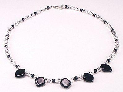 Jewelry Making Idea: Diamond Drop Necklace (eebeads.com)