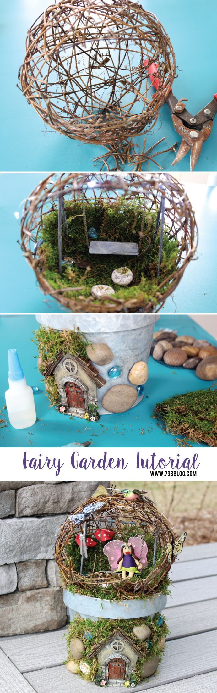 DIY Fairy Garden Tutorial - seven thirty three