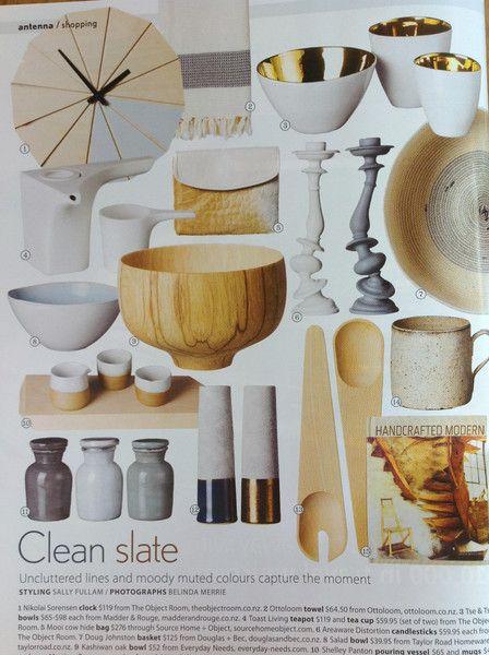 Ottoloom Hamptons in grey stripe, featured in November 2013 NZ House & Garden magazine