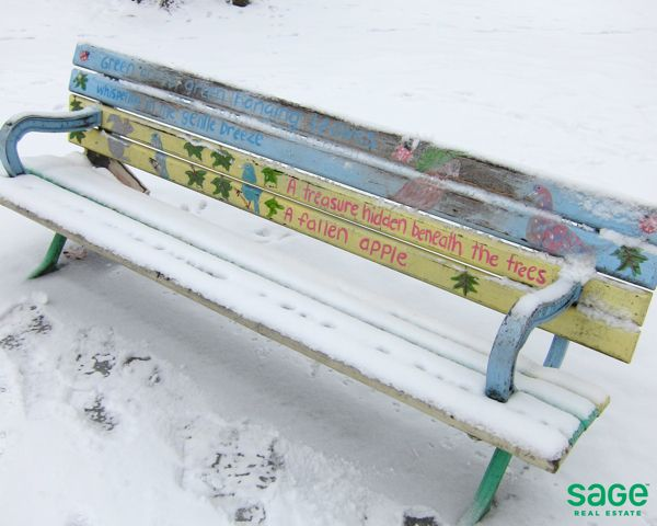 A Friendly Bench in Leslieville, Toronto