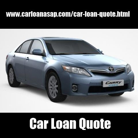 Car Loan Quote Auto Loan Pinterest