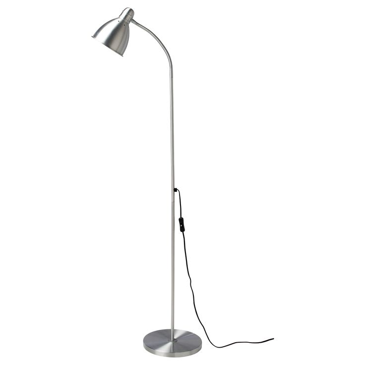 IKEA - LERSTA, Floor/reading lamp with LED bulb, You can easily direct the light where you want it because the lamp arm is adjustable.Provides a directed light that is great for reading.