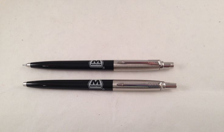 Parker Pen and Pencil Set Marathon Oil Company in Original Case by Oldtonewjewels on Etsy