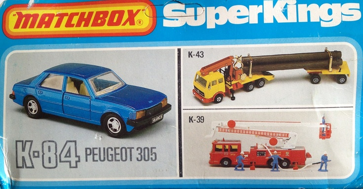 1981 Matchbox SuperKings K-84 Peugeot 305