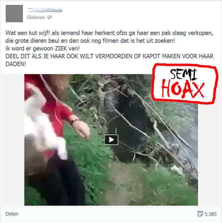 Meisje verdrinkt hondjes. Zie: https://www.facebook.com/Hoaxmelding/photos/pb.130426727118100.-2207520000.1394899995./259762674184504