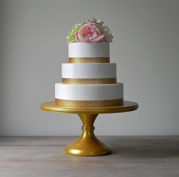 #cake stand - 12 Gold Metallic Wedding Cake Stand Pedestal by EIsabellaDesigns, $120.00