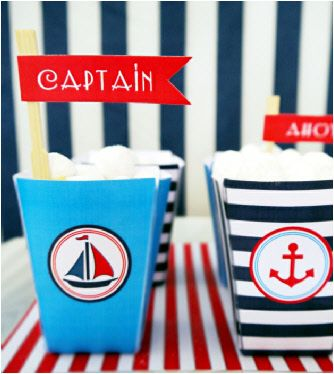 Nautical printable birthday party supplies shop
