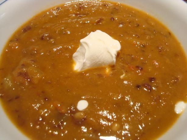 Black Bean Pumpkin Soup. Photo by Starrynews