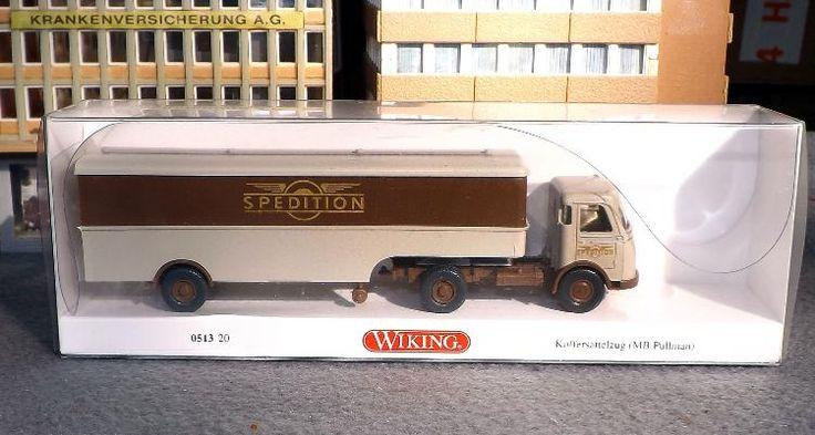 """0513 20 Wiking Modellauto """"Mercedes Pullman """"Spedition"""" WIE NEU"""