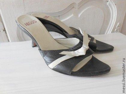 Винтажная обувь. Ярмарка Мастеров - ручная работа. Купить Босоножки без задника, мюли, винтаж, HEGOS, р.38. Handmade.