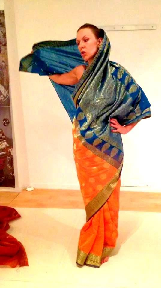 trying a new #India #saree