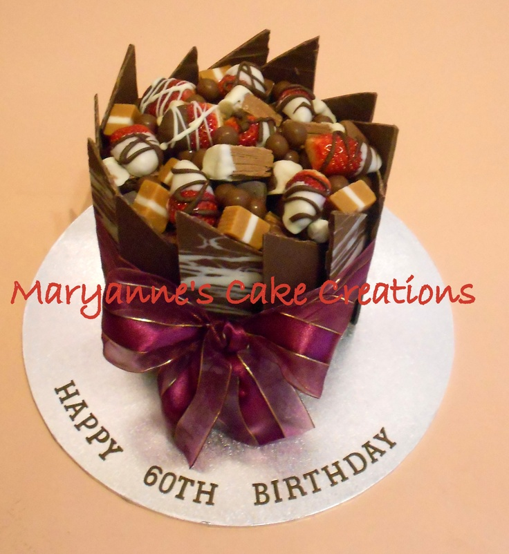Chocolate Panel Cake - Birthday Cake - Milk Chocolate