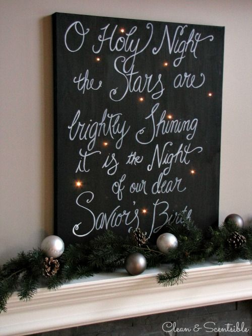 DIY Twinkle Christmas Canvas.