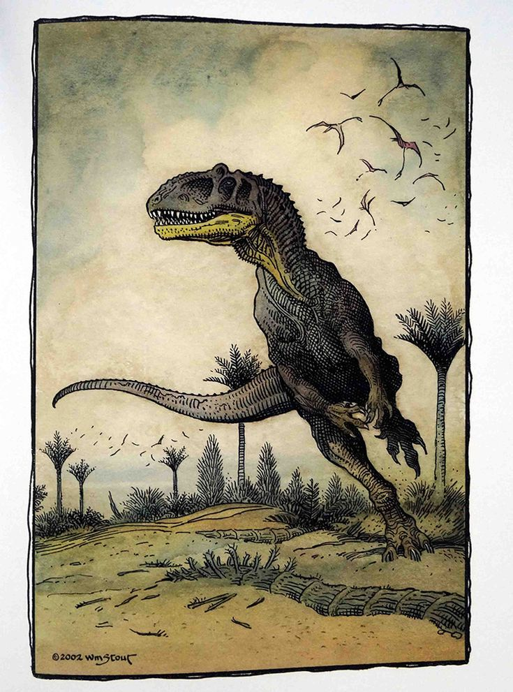 Dinosaur Discoveries | illustration | Wm. Stout
