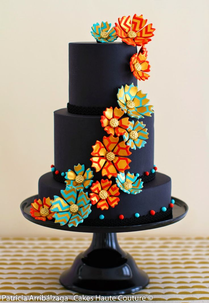 Black fashion cake