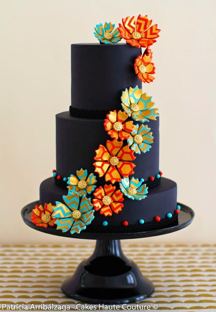 Black fashion cake