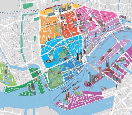 Rotterdam city map