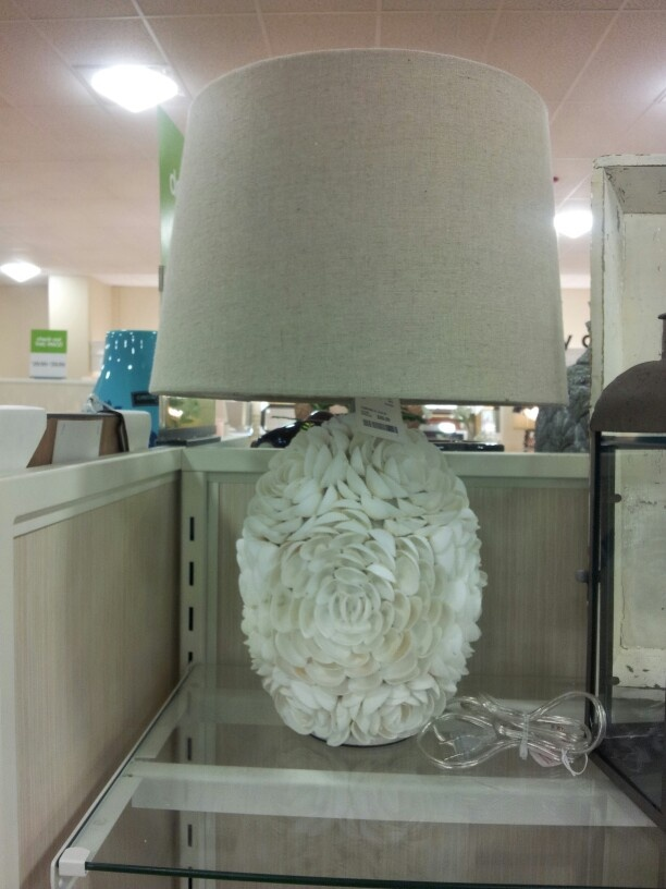 shell lamp at the home goods store