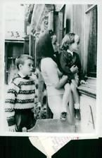 Vintage photo of Elizabeth Taylor with her two children
