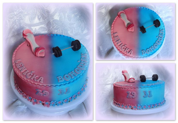 Halved fitness and pump cake
