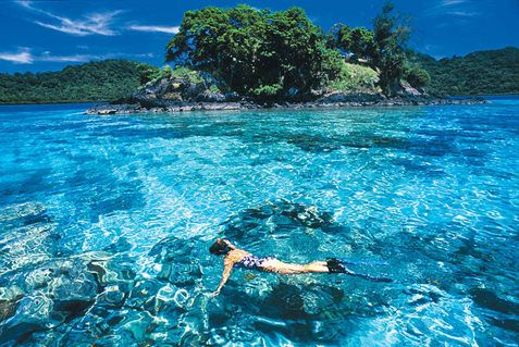 The island of Kauai has some of the best snorkeling! Makes you want to dive right in.