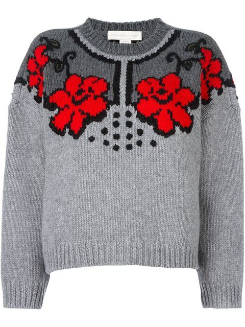 Купить Stella McCartney jacquard floral design jumper в Stefania Mode from the world's best independent boutiques at farfetch.com. 400 бутиков, 1 адрес. .