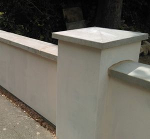 Rogers Pier cap 525 mm with coping 350mm